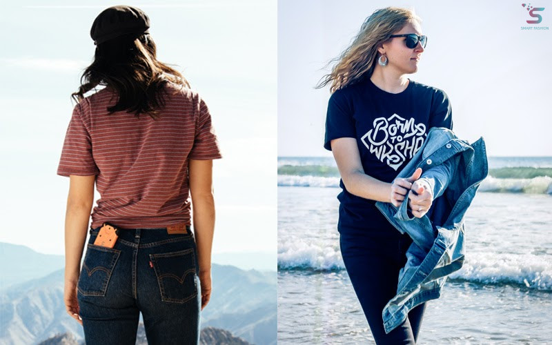 T-shirts and jeans