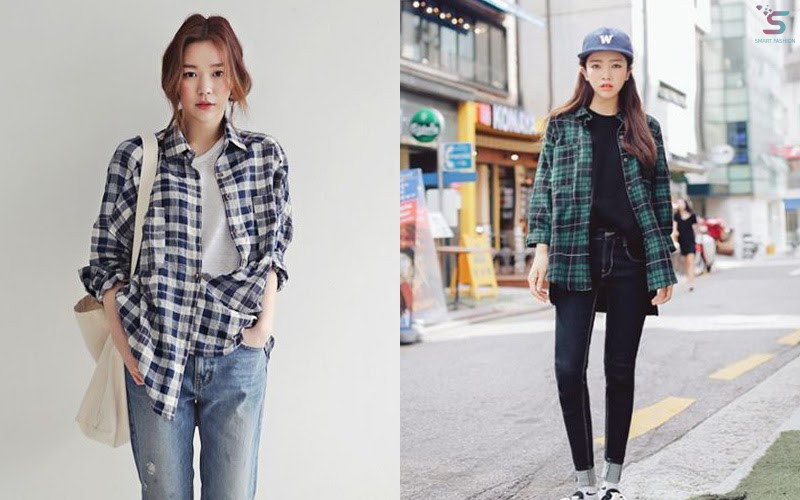 A plaid shirt can make students be more fashionable