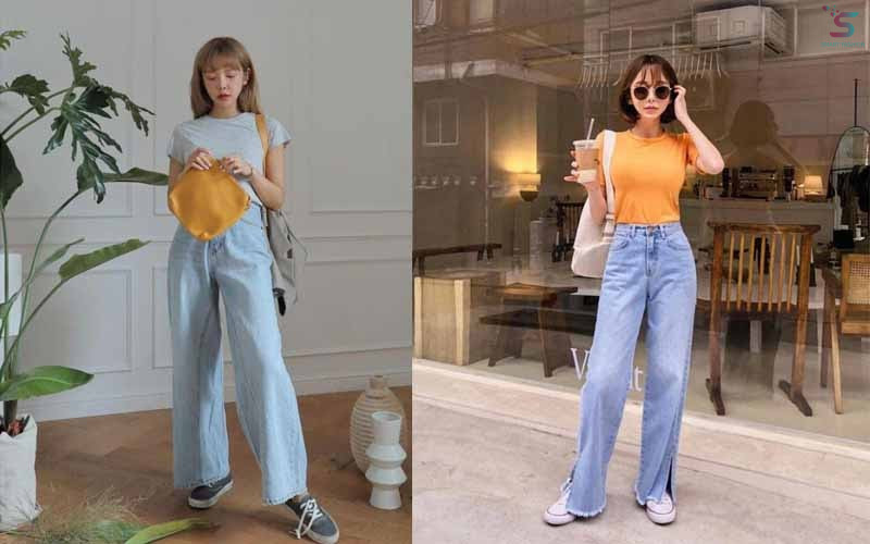 Crop top and culottes jeans