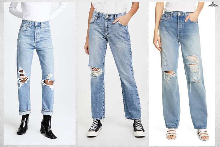 quần jeans Distressed